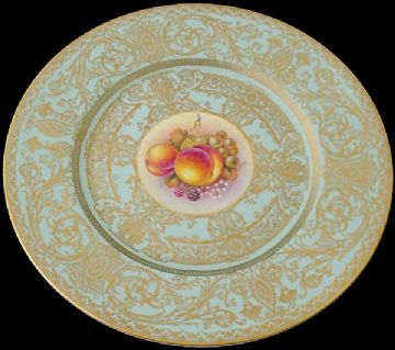 Large Royal Worcester Fruit Plate By Telford